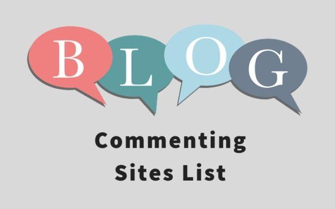Blog Comment Sites List